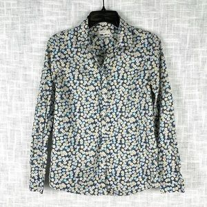 J. Crew Liberty of London print Perfect Shirt sz 0